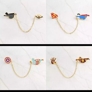 Set of 4 Superhero Enamel Pins